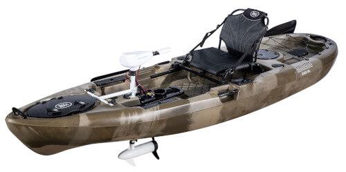 BKC PK11 Angler Fishing Kayak with Trolling Motor