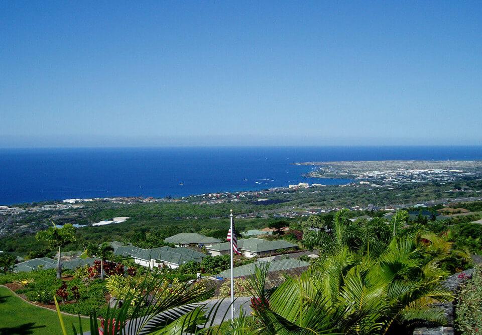Kona coast in Hawaii