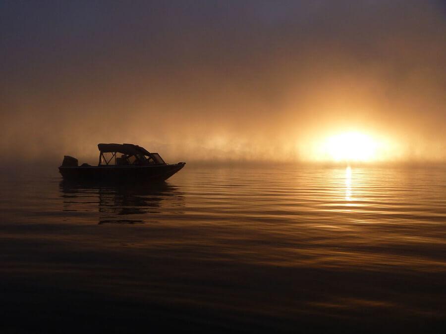 Sunset at Crane Prairie Reservoir in Oregon