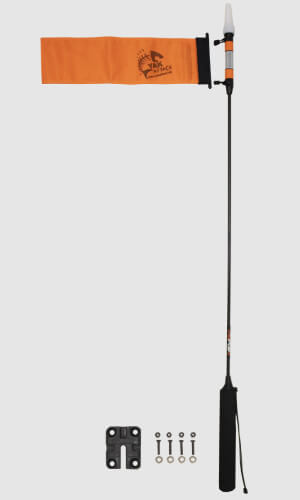 VISIPole II GearTrac Ready Flag and Mighty Mount