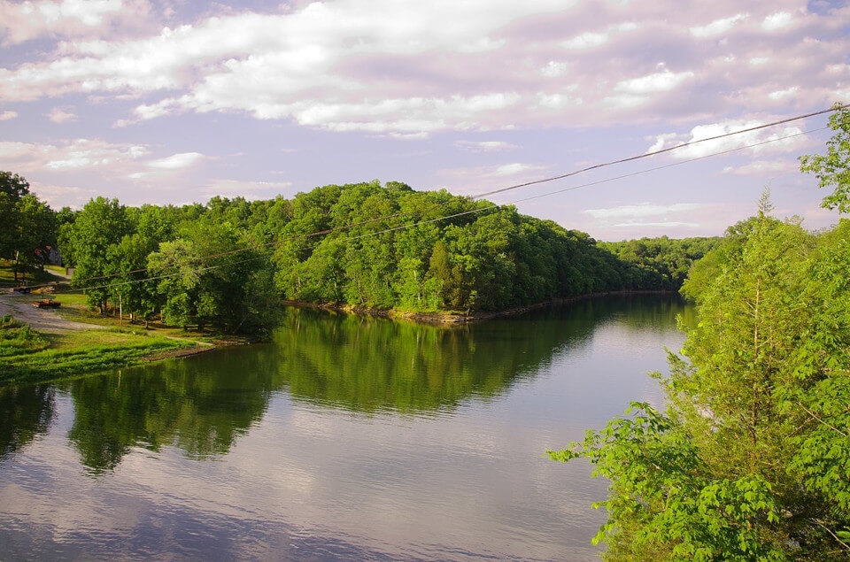 View of Caney fork river