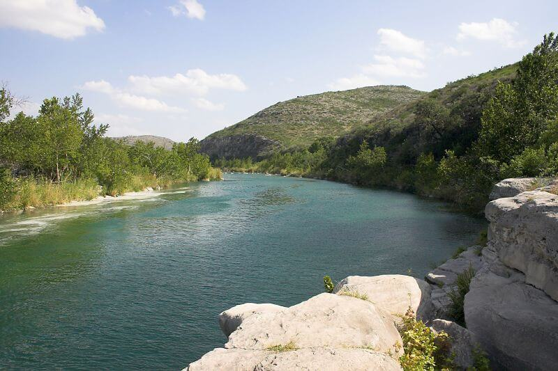 View of Devils River in Texas
