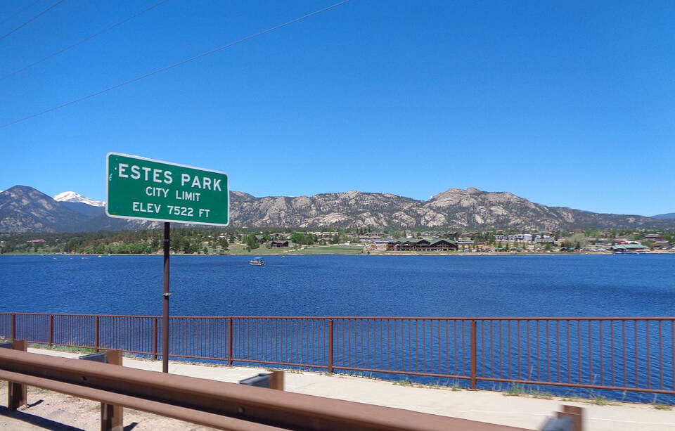 View of Estes Park Colorado