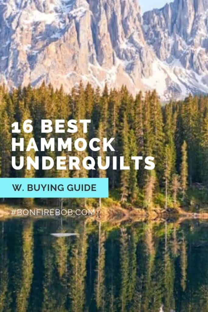Best hammock underquilts w. buying guide. For me the best hammock underquilt doesn't have to be the most expensive. It's the one that matches YOUR needs. #hammockunderquilt #hammockunderquiltdiy #hammockunderquiltpattern #underquiltforhammock #hammockcampingunderquilt #cumulusunderquilt #campinggear #underblankethammock #bestbudgetunderquilt