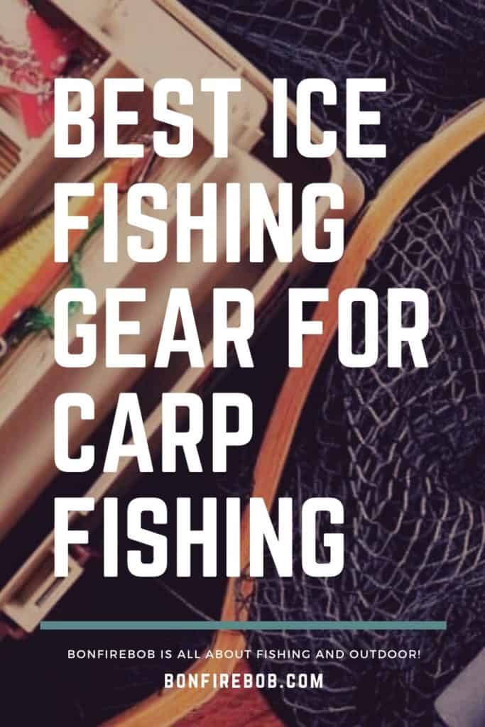Best ice fishing gear for carp fishing. This is my picks on what I think is the best ice fishing gear for when you want to catch carp. #carpfishing #catchingcarp #carpbite #fishingtips #fishingbeginners #carpspawn #fishingforcarp #tipscarp #fishing #carptips #findingcarp