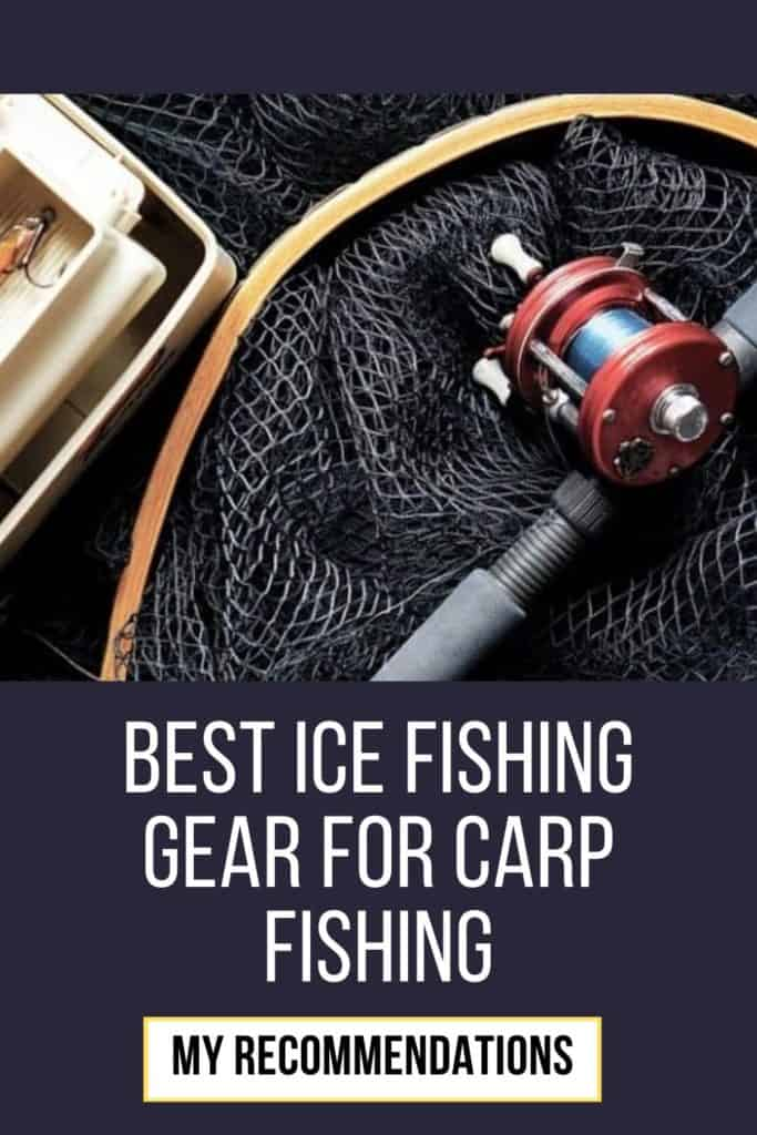 Best ice fishing gear for carp fishing. This is my picks on what I think is the best ice fishing gear for when you want to catch carp. #carpfishing #catchingcarp #carptips #findingcarp #fishingbeginners #carpspawn #carpbite #fishingtips #fishingforcarp #tipscarp #fishing