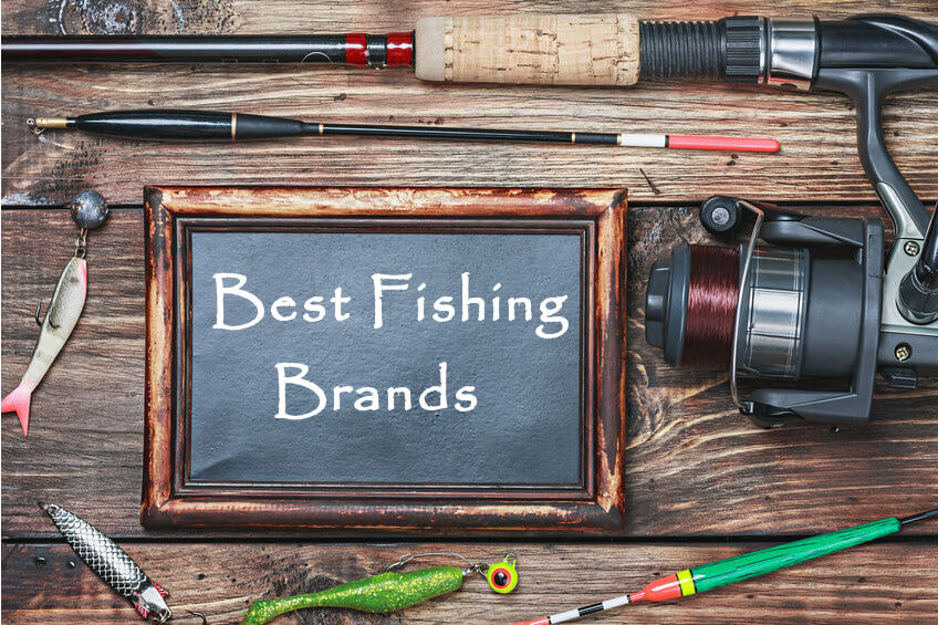 blackboard with the word best fishing brands and other fishing gear