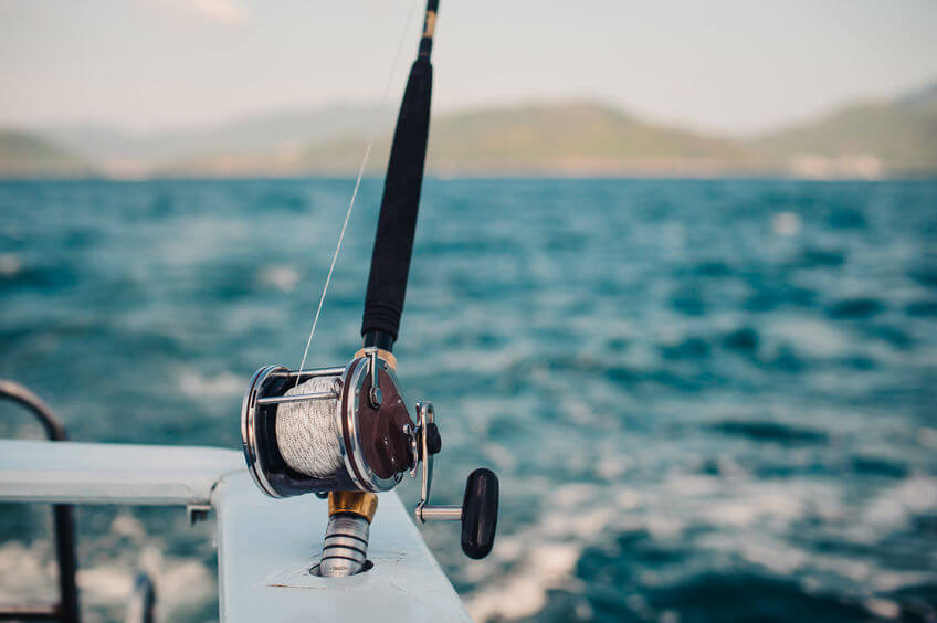 boat fishing rod and reel for saltwater fishing