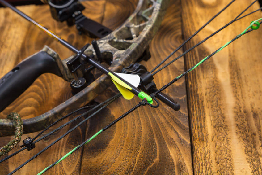camouflage compound bowfishing bow with arrow