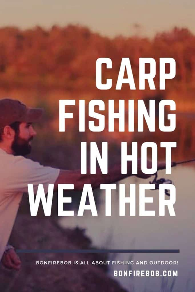 Carp fishing in hot weather. I've got you covered - because carp fishing in hot weather can be a bit of a mystery. Here's my 7 tips to summer carp fishing. #fishingbeginners #carpspawn #carptips #findingcarp #carpfishing #catchingcarp #fishingforcarp #tipscarp #fishing #carpbite #fishingtips