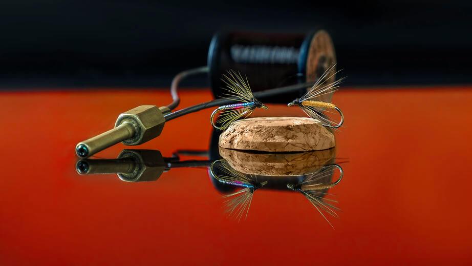 close up of fly tying bobbin