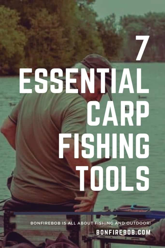 7 essential carp fishing tools. This is my list on the top carp gear; carp landing net, unhooking mat, rod rests, bite indicators, rig ruller, bait drill combination etc. #fishingbeginners #carpspawn #carptips #findingcarp #carpbite #fishingtips #carpfishing #catchingcarp #fishingforcarp #tipscarp #fishing