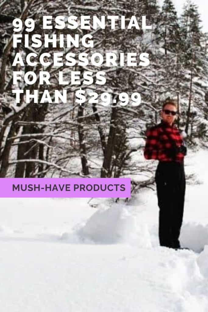 99 essential fishing accessories below $29.99. This is my list of must have fishing gear for being prepared for anything when you go fishing. #fishinggearorganization #fishinggearstorageideas #fishinggeargadgets #fishinggearstorage #fishinggear #fishing #fishinggearforladies #fishinggearclothing #fishinggearstoragediy