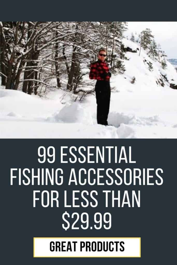 99 essential fishing accessories below $29.99. This is my list of must have fishing gear for being prepared for anything when you go fishing. #fishinggearorganization #fishinggearstorageideas #fishinggeargadgets #fishinggear #fishing #fishinggearforladies #fishinggearclothing #fishinggearstoragediy #fishinggearstorage