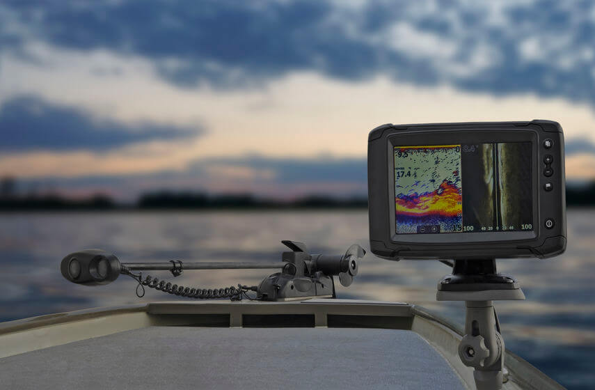 fishing kayak with fish finder on-board