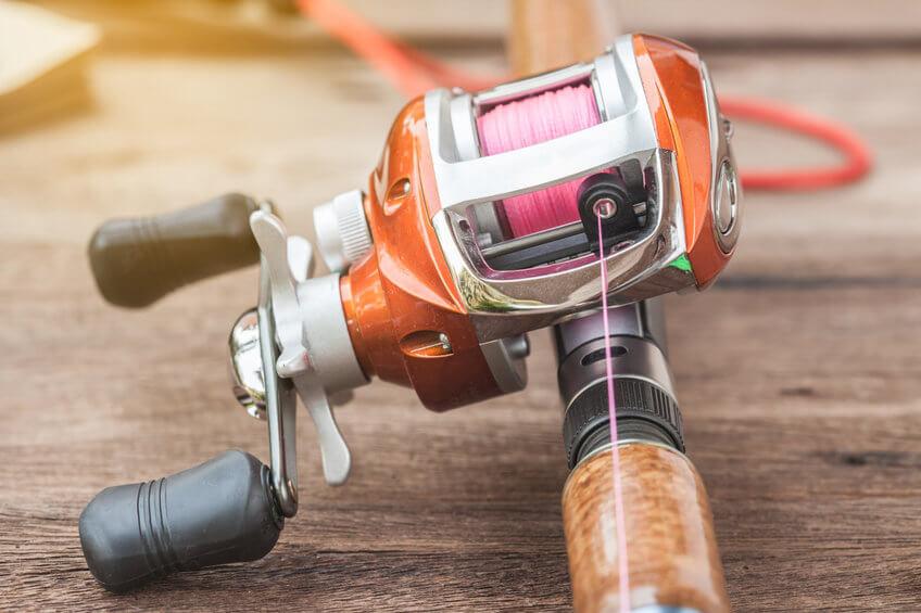 fishing rod with baitcasting fishing reel