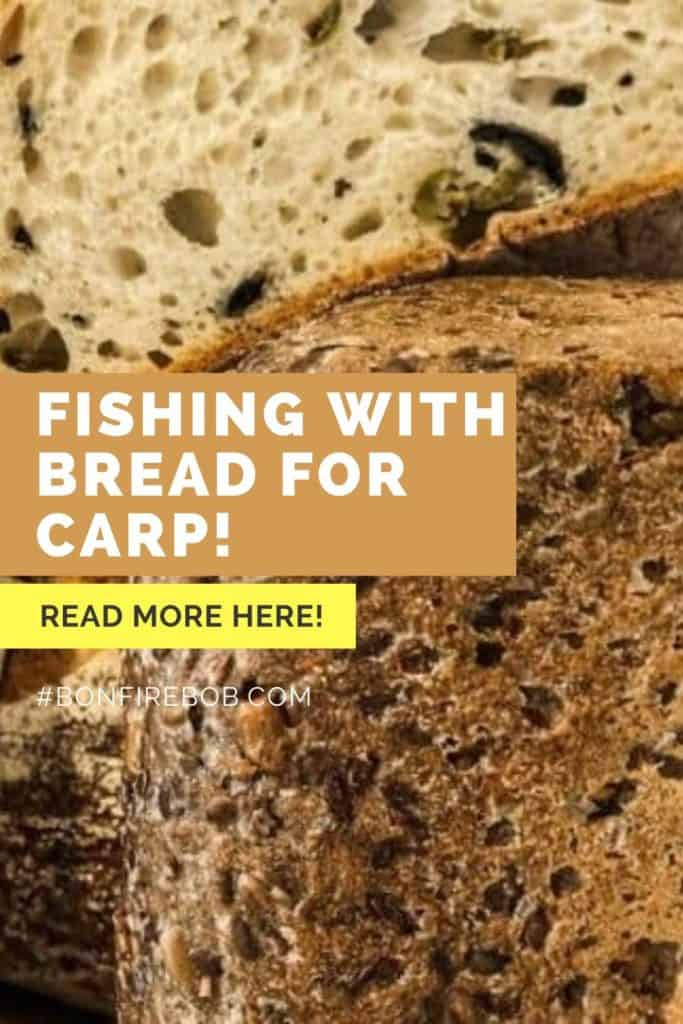 Fishing with bread for carp. Fishing With Bread For Carp is an easy tactic that also carriers more perks than some other popular baits anglers use to catch carp around the world. Read more here. #fishingforcarp #tipscarp #fishing #carptips #findingcarp #fishingbeginners #carpspawn #carpfishing #catchingcarp #carpbite #fishingtips
