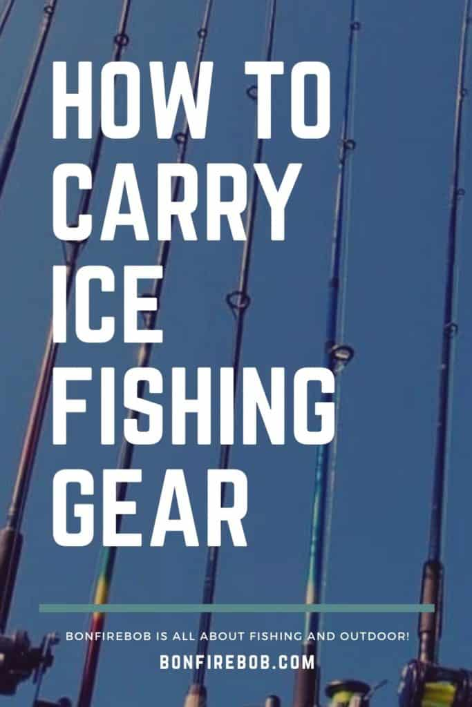 How to carry ice fishing gear the right way. Here's my best advices on how to carry your ice fishing gear right. #icefishing #icefishinggear #icefishingshackplans #icefishingshack #icefishingbait #icefishingtips #icefishingsled #icefishinghouse #icefishingshanty