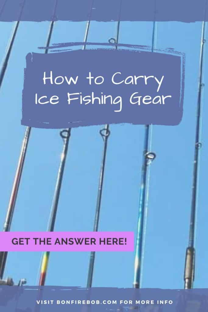 How to carry ice fishing gear the right way. Here's my best advices on how to carry your ice fishing gear right. #icefishingtips #icefishingsled #icefishingshackplans #icefishingshack #icefishing #icefishinggear #icefishinghouse #icefishingshanty #icefishingbait