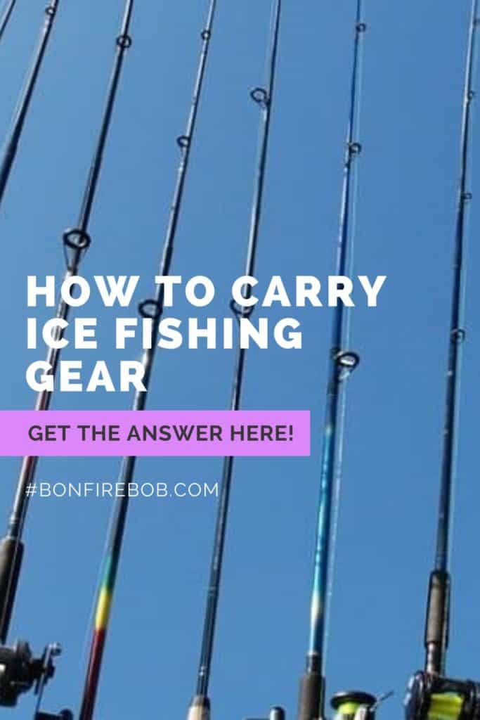 How to carry ice fishing gear the right way. Here's my best advices on how to carry your ice fishing gear right. #icefishingtips #icefishingsled #icefishingshackplans #icefishingshack #icefishinghouse #icefishingshanty #icefishingbait #icefishing #icefishinggear