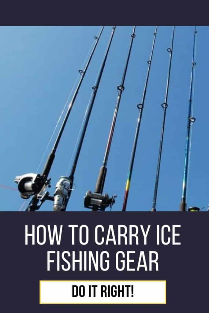 How to carry ice fishing gear the right way. Here's my best advices on how to carry your ice fishing gear right. #icefishingtips #icefishingsled #icefishingbait #icefishinghouse #icefishingshanty #icefishing #icefishinggear #icefishingshackplans #icefishingshack
