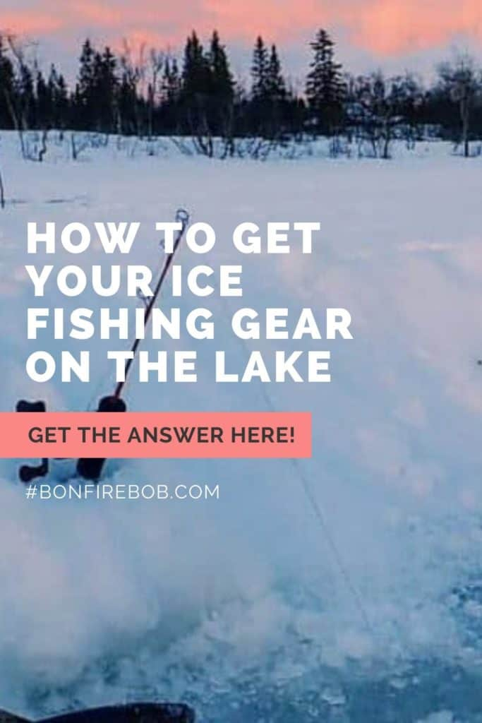 How to get your ice fishing gear on the lake. Learn how to get your ice fishing gear on the lake and much more. #icefishingtips #icefishingsled #icefishingshackplans #icefishingshack #icefishingbait #icefishinghouse #icefishingshanty #icefishing #icefishinggear